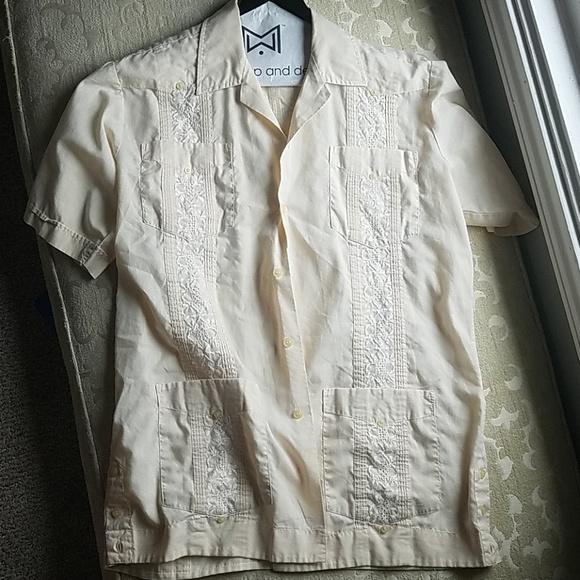 Mexican Wedding Shirt.Vintage Mens Mexican Wedding Shirt Guayabera M